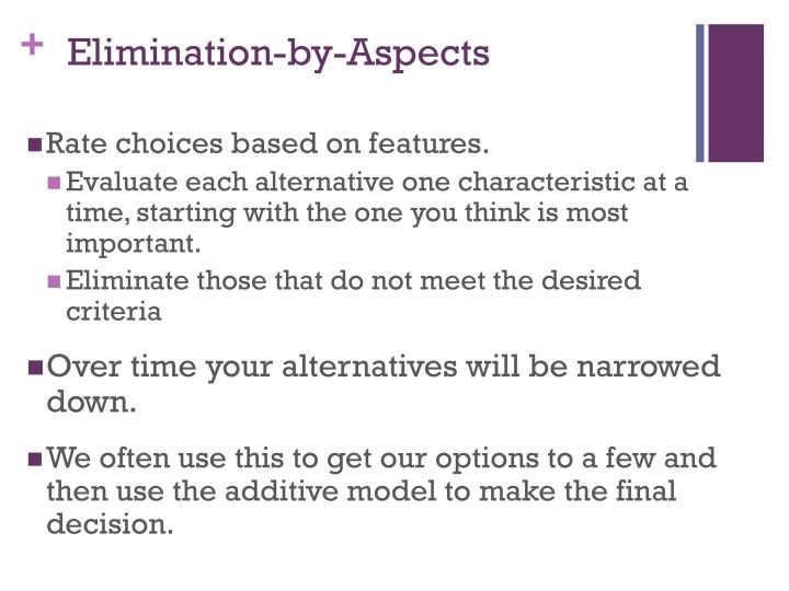 Elimination-by-Aspects