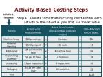 activity based costing steps4