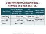 departmental overhead rates example on pages 182 1871