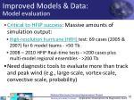 improved models data model evaluation