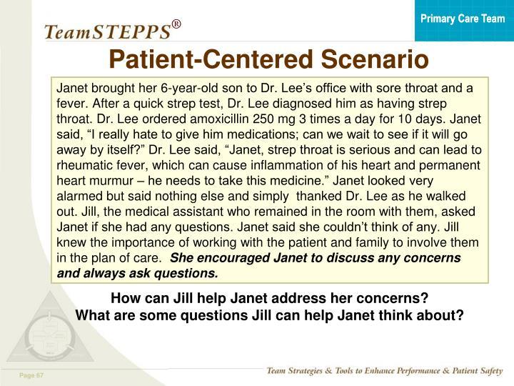 Patient-Centered Scenario