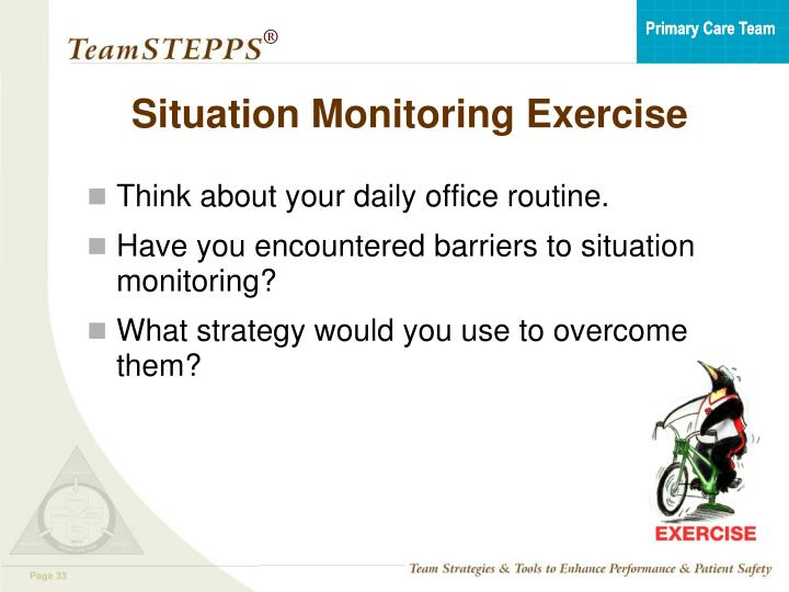 Situation Monitoring Exercise