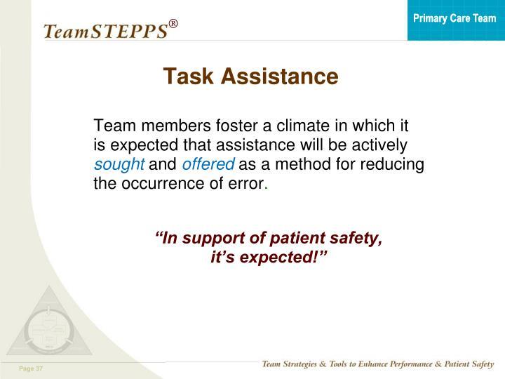 Task Assistance