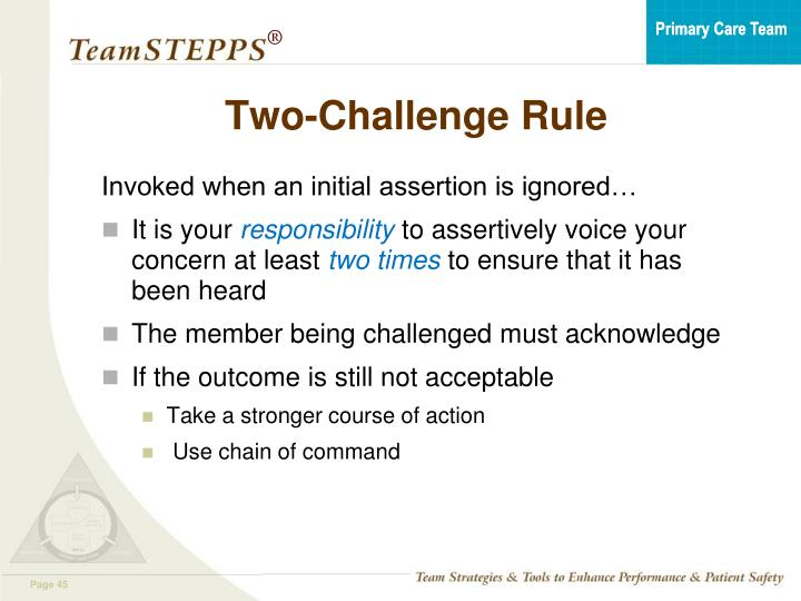 Two-Challenge Rule
