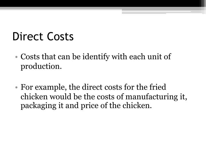 Direct costs