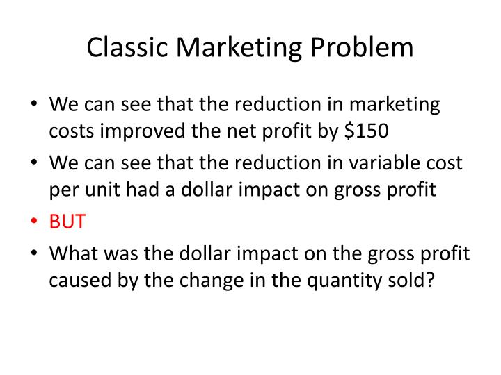 Classic Marketing Problem