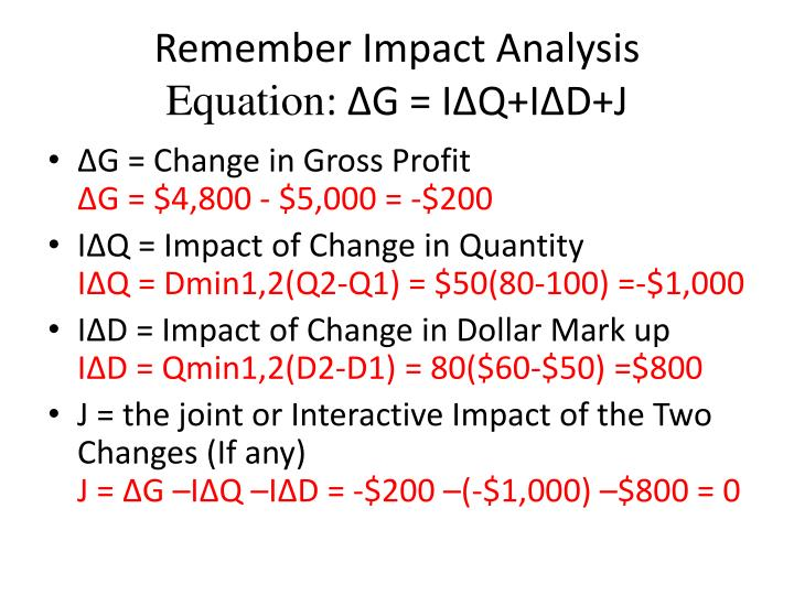 Remember Impact Analysis