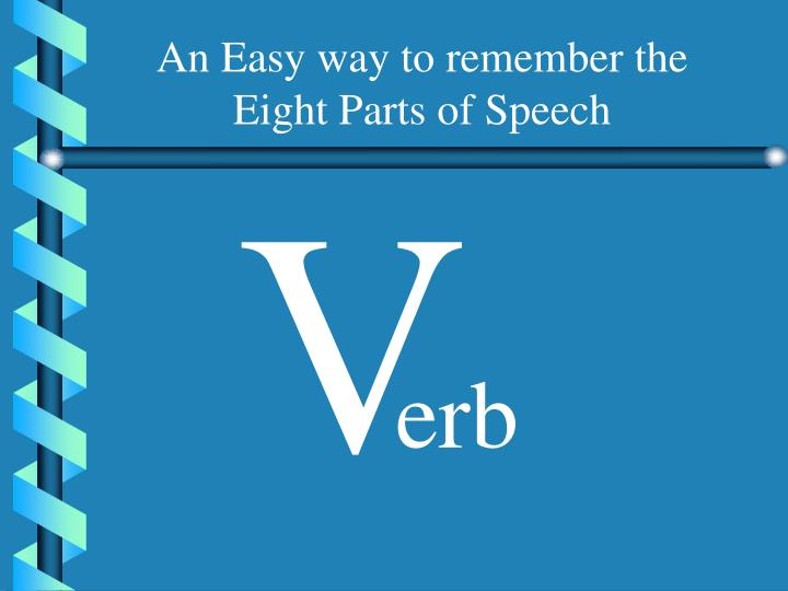 An Easy way to remember the Eight Parts of Speech