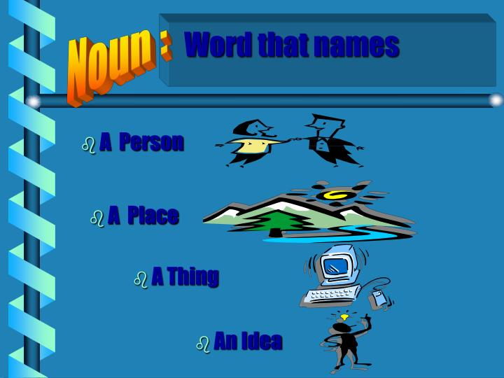 Word that names