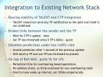 integration to existing network stack