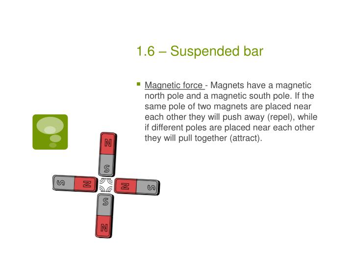 1.6 – Suspended bar