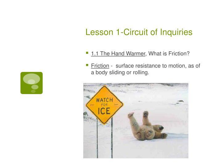 Lesson 1 circuit of inquiries