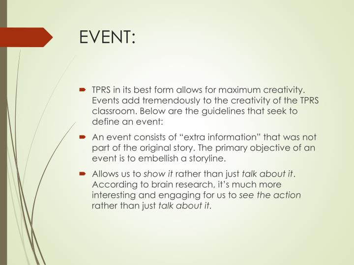 EVENT: