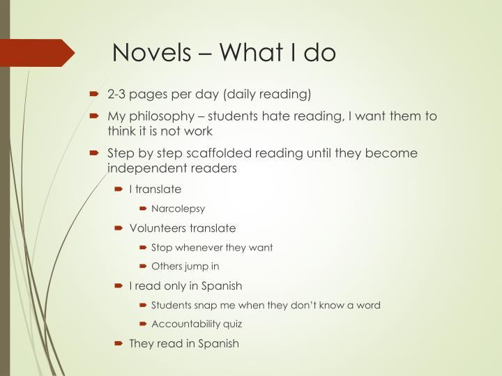 Novels – What I do