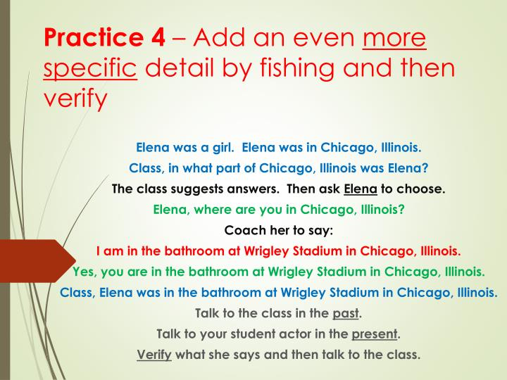 Elena was a girl.  Elena was in Chicago, Illinois.