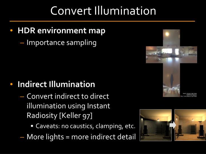 Convert Illumination