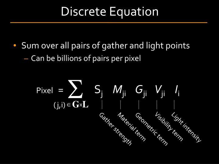 Discrete Equation