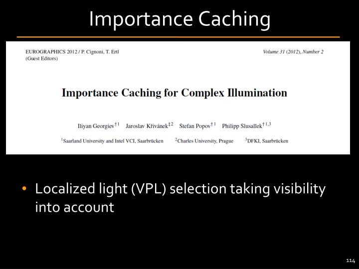 Importance Caching