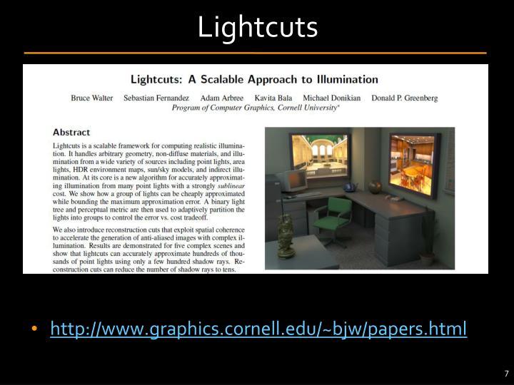 Lightcuts