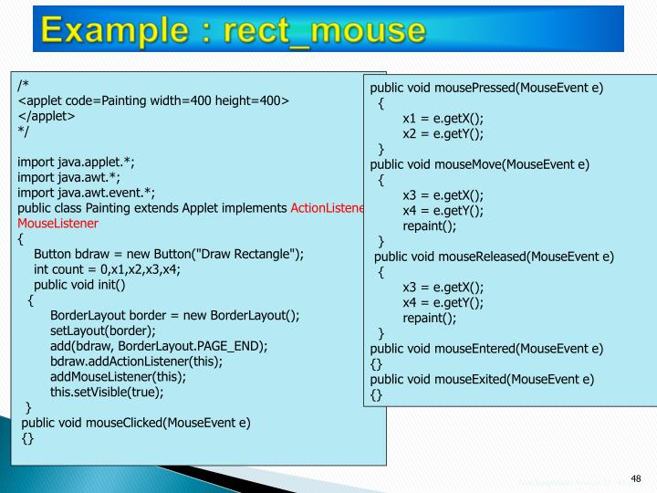 Example : rect_mouse