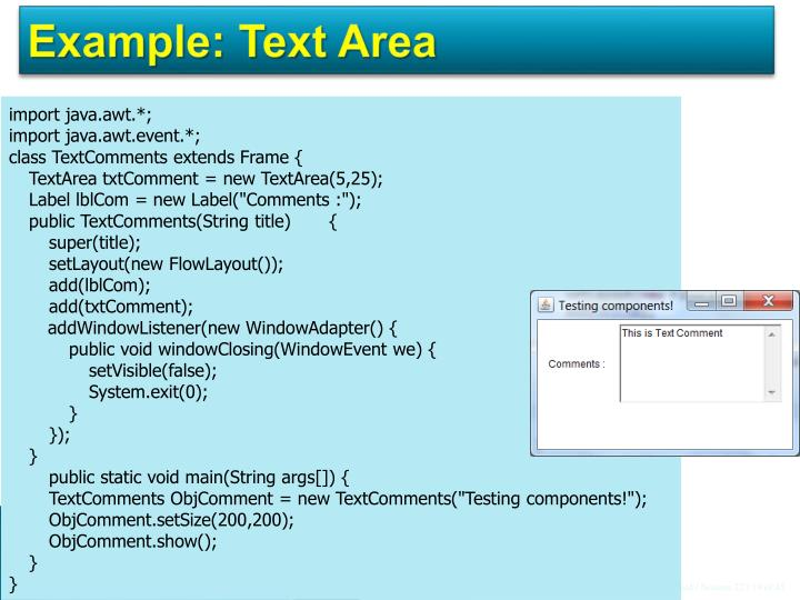 Example: Text Area