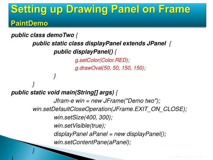 Setting up Drawing Panel