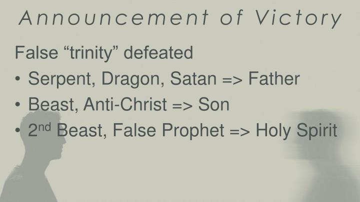 Announcement of Victory