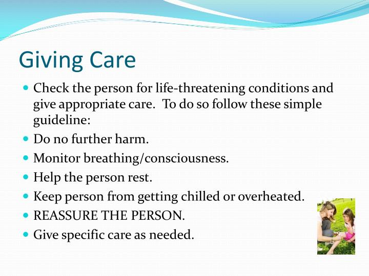 Giving care