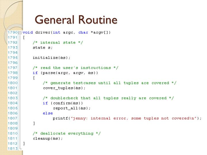 General Routine