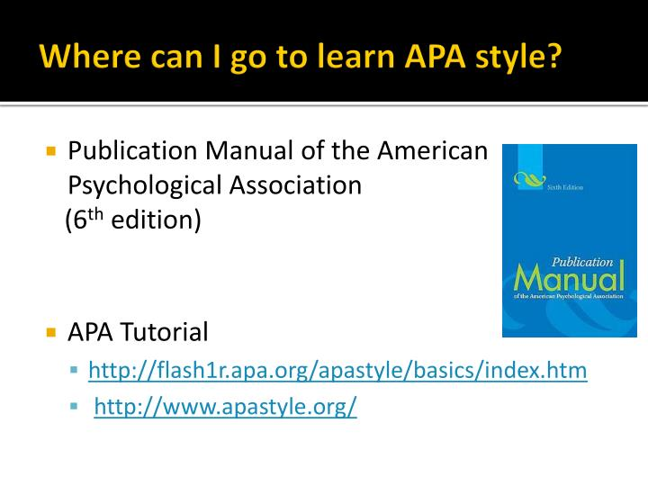 Where can I go to learn APA style?