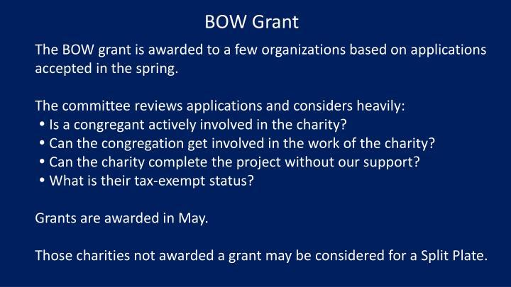 BOW Grant