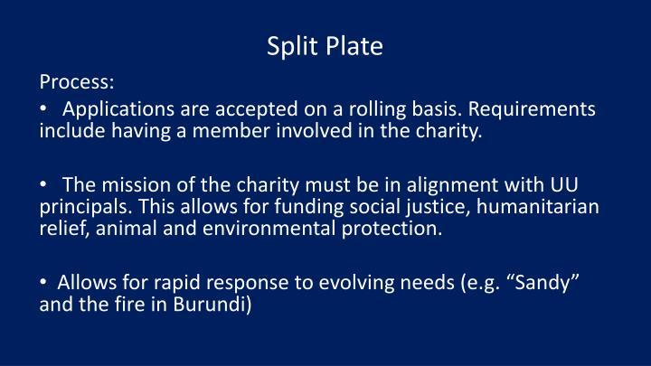 Split Plate