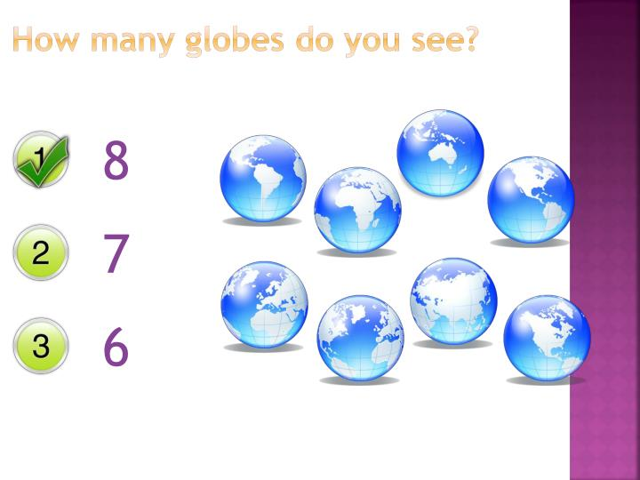 How many globes do you see?