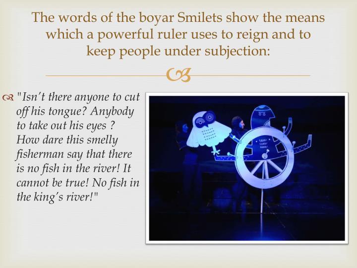 The words of the boyar