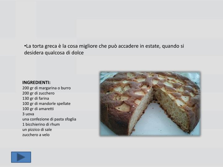 La torta greca