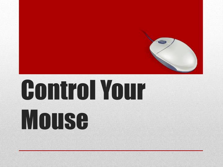 Control your mouse