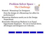 problem solver space the challenge