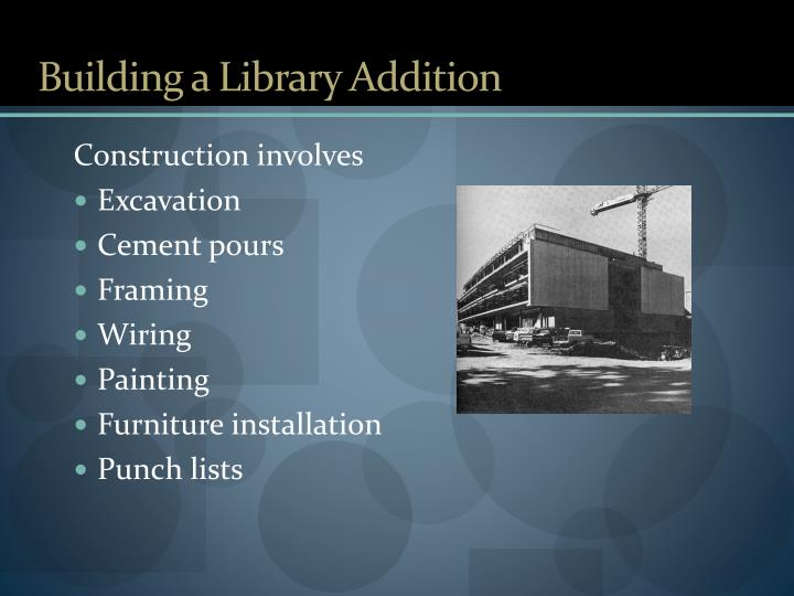 Building a library addition1