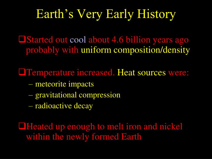 Earth's Very Early History