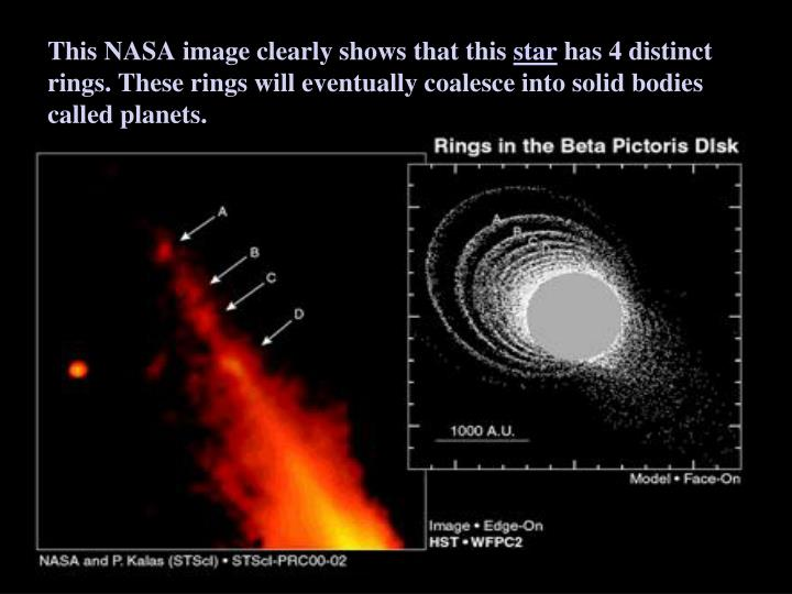 This NASA image clearly shows that this