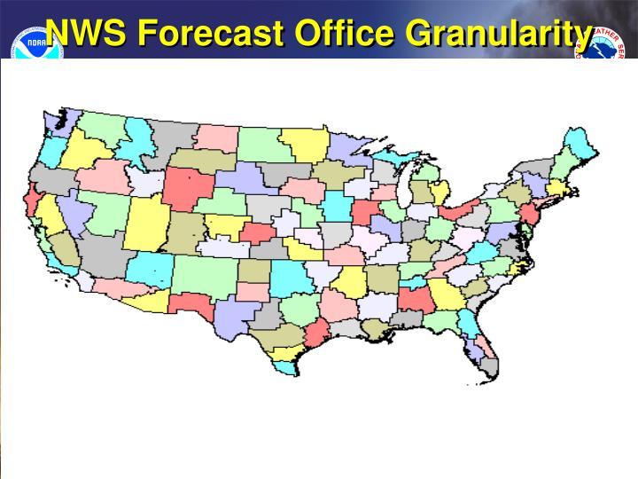 NWS Forecast Office Granularity