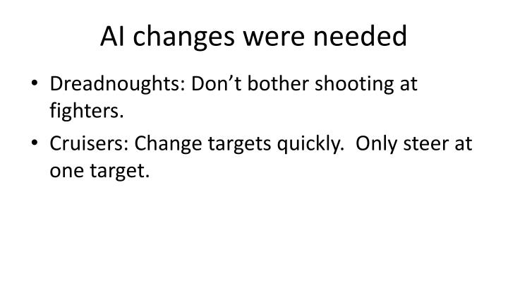 AI changes were needed
