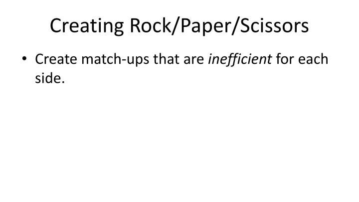 Creating Rock/Paper/Scissors