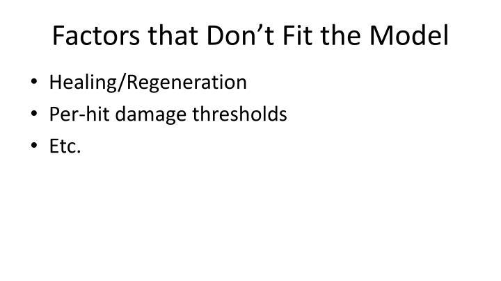 Factors that Don't
