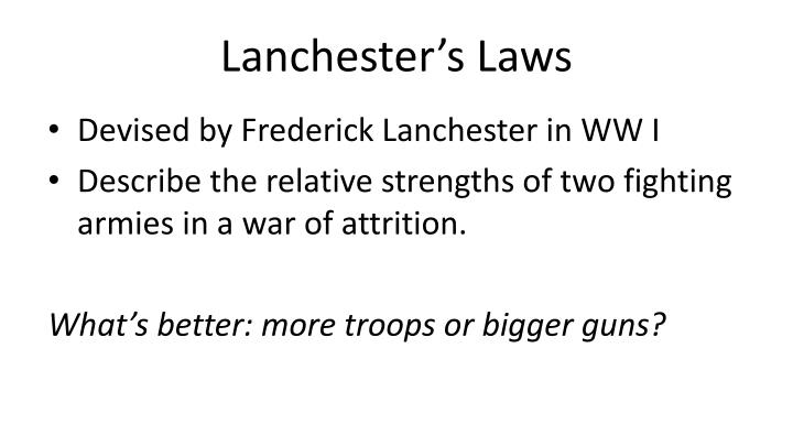 Lanchester s laws