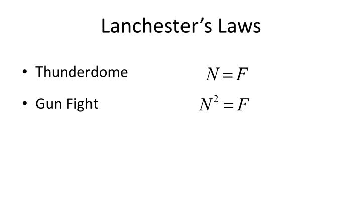 Lanchester's Laws