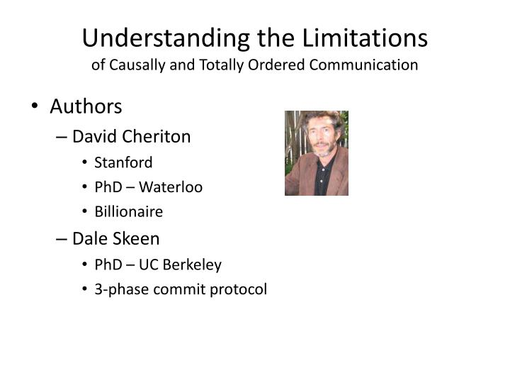 Understanding the Limitations
