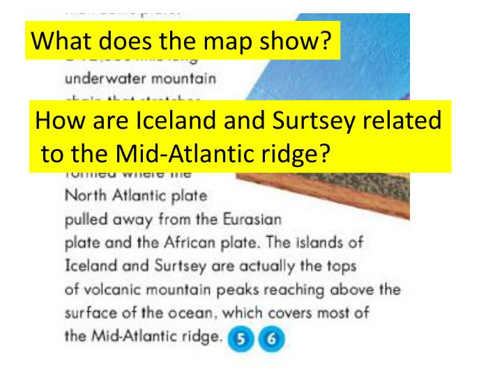 What does the map show?