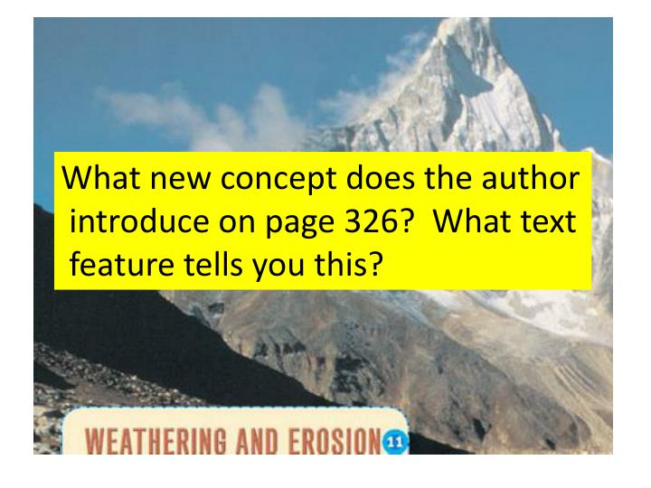 What new concept does the author