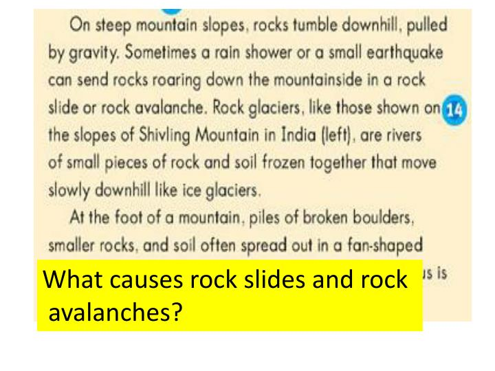 What causes rock slides and rock